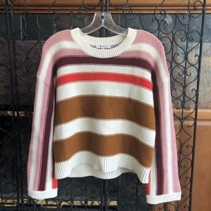 Madewell Valleyscape Striped Pullover Sweater XS